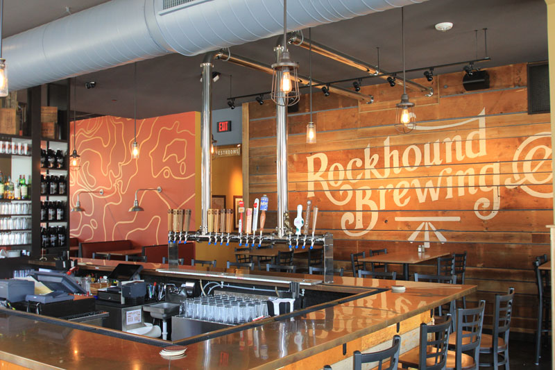 Interior photo of Rockhound Brewing Company in Madison, Wisconsin