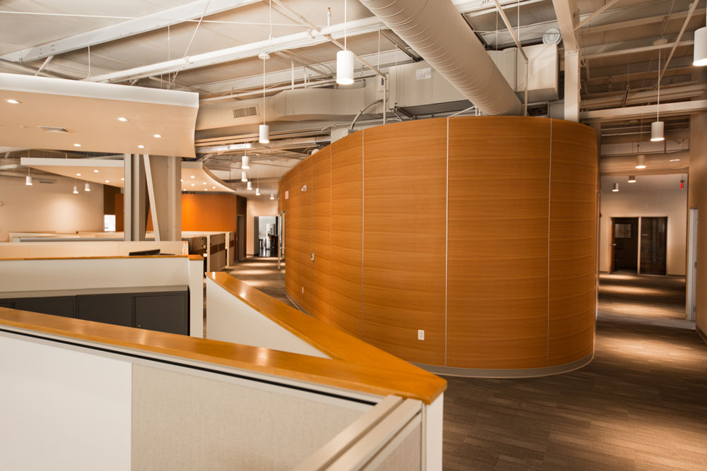 Interior photo of AprilAire office building located in Wisconsin